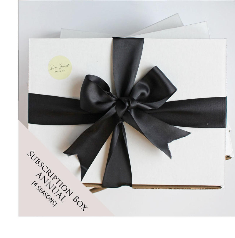 Do Good Paper Co. Canadian subscription box - annual subscription (4 seasons)