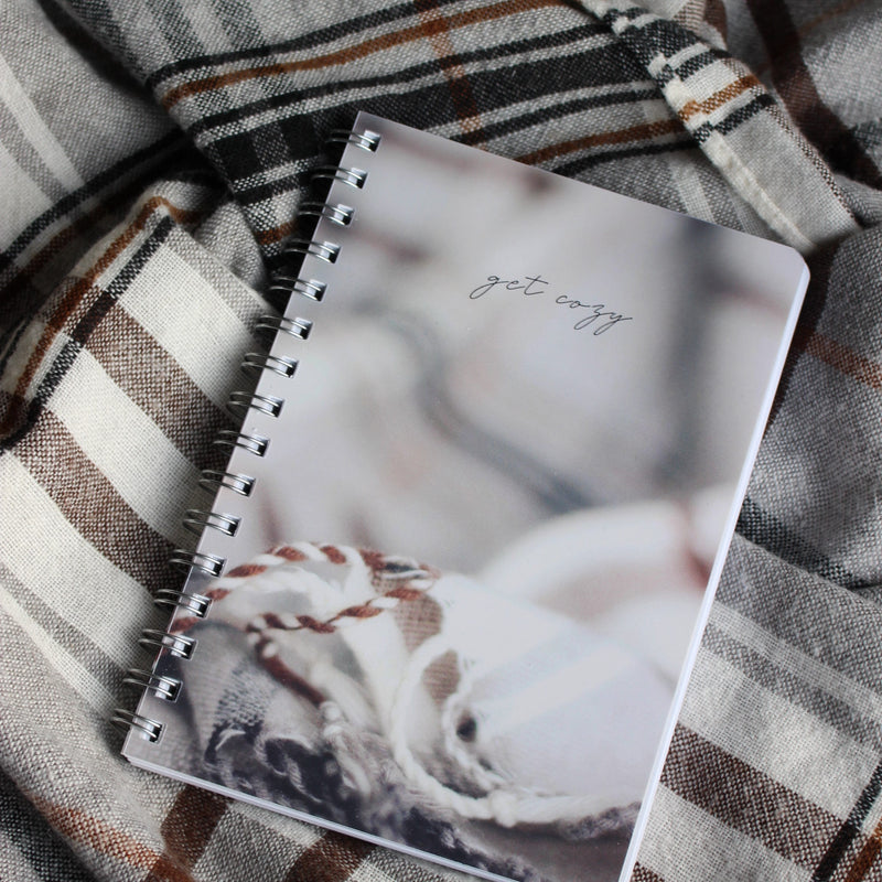 "Small spiral notebook - ""Cozy at Home"""