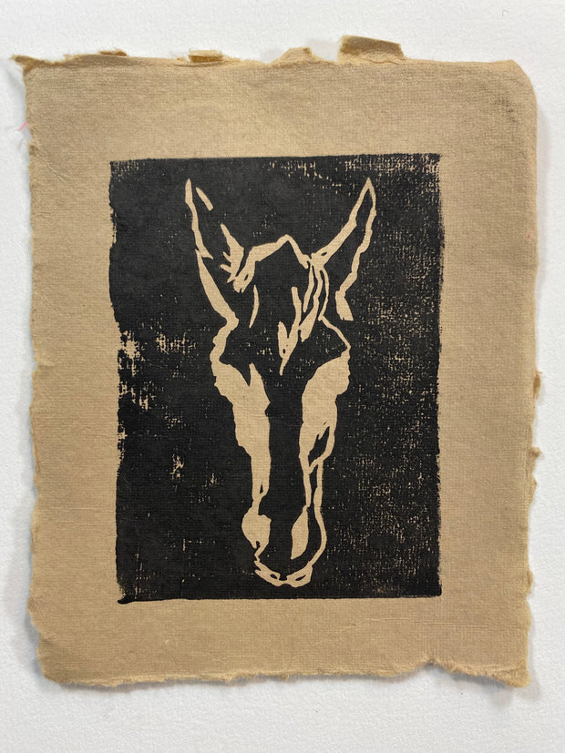 OUTSIDER mini LINOCUT PRINT- Limited Edition 40 ct  aprox 4.5 X 5.5