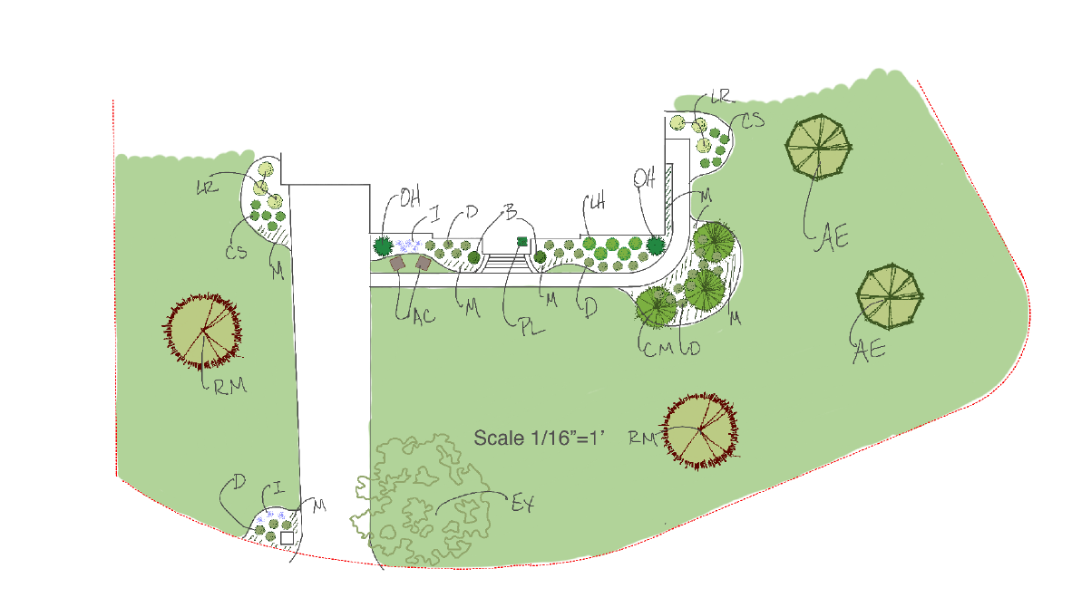 Virtual Landscape Design Site Plan