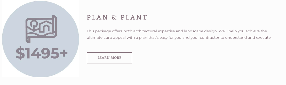 Plan & Plant Design Package for Ranch Style Homes