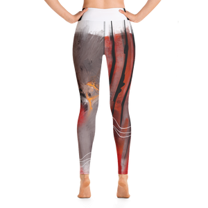 "THINK Red ""Abstraction 5"" Yoga Pants"