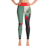 THINK Yoga Leggings Half & Half Floral 2