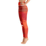 "THINK Red ""Abstraction 2"" Yoga Pants"