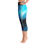 "THINK ""Blue Abstraction 2"" Yoga Capri Leggings"