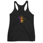 THINK Graphic Flower Women's Racerback Tank 1
