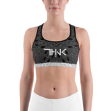 THINK Sports bra Pattern Black