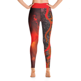"THINK Red ""Abstraction 3"" Yoga Pants"