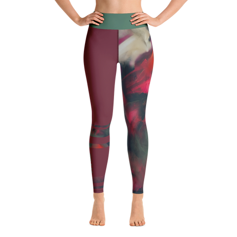 THINK Yoga Leggings Half & Half Floral 5