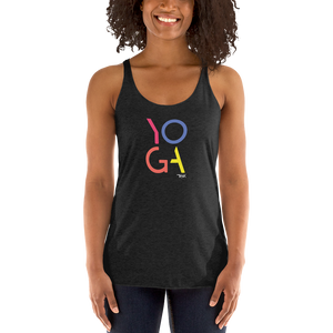 THINK YOGA  Racerback Tank (color)