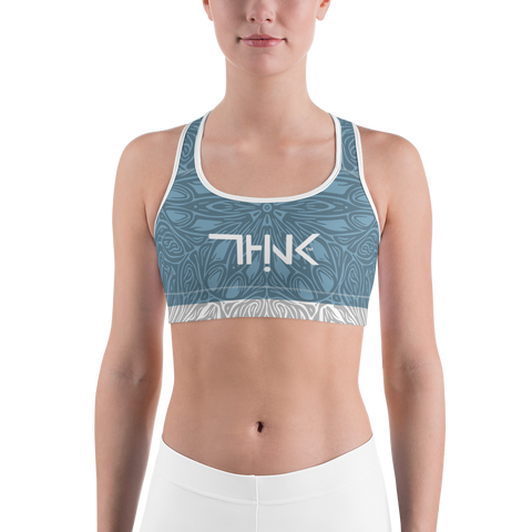 THINK Sports bra Pattern Blue Gray