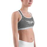 THINK Sports bra Pattern Grey