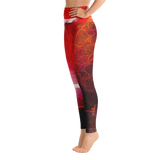 "THINK Red ""Abstration 4"" Yoga Pants"