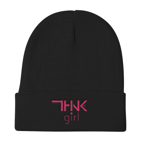 THINK GIRL Knit Beanie