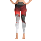 "THINK Red ""Abstraction 6"" Yoga Pants"
