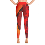 "THINK Red ""Abstraction 1"" Yoga Pants"