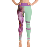 THINK Yoga Leggings Half & Half Floral 10