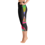 Triangles & Patterns Yoga Capri Leggings