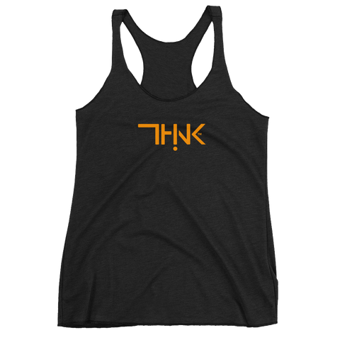 THINK Logo Women's Tank  Orange