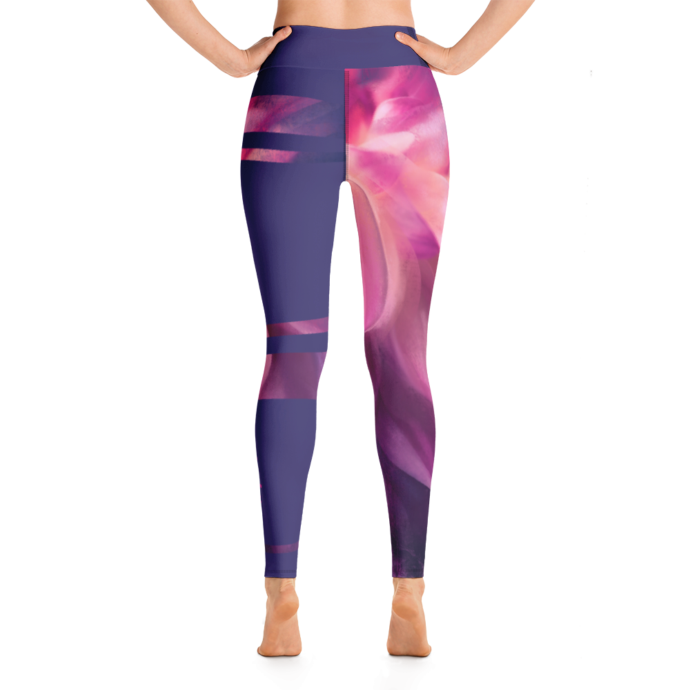 THINK Yoga Leggings Half & Half Floral 12