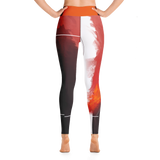 "THINK Red ""Abstraction 7"" Yoga Pants"