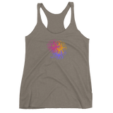 THINK Graphic Flower Women's Racerback Tank 3