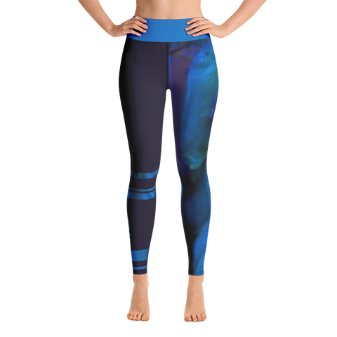 THINK Yoga Leggings Half & Half Flora 8