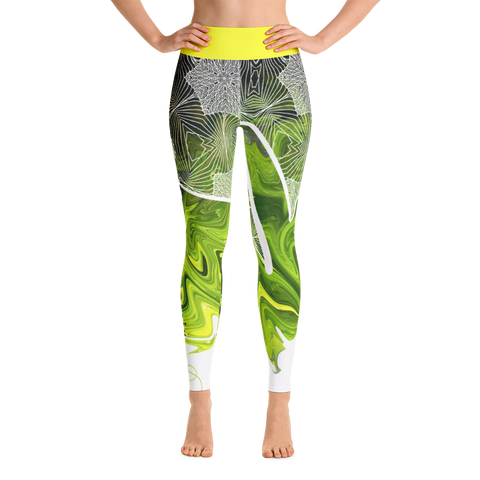THINK Yoga Pants Flora Collection 4