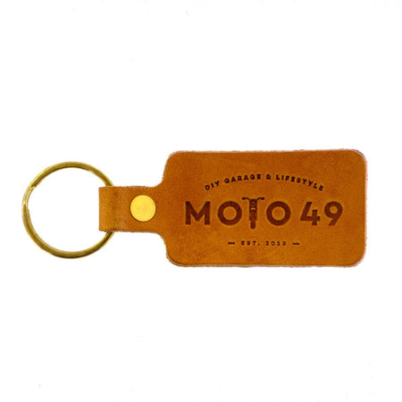 Moto 49 Leather Key Tag