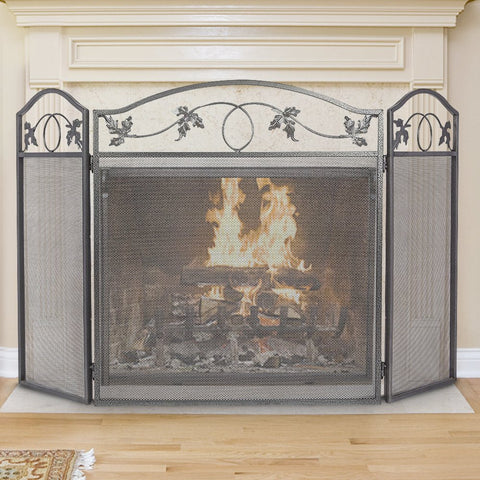 Amagabeli 3 Panel Fireplace Screen