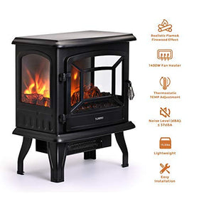"TURBRO Suburbs 20"" 1400W Electric Fireplace Stove"