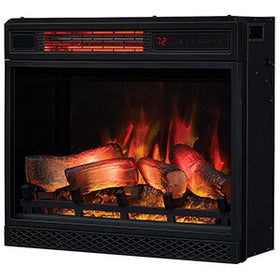 "Classic Flame 23II042FGL 23"" 3D Infrared Quartz Electric Fireplace Insert with Safer Plug and Sensor"
