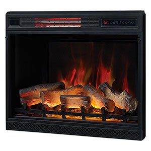 "Classic Flame 28"" 3D Infrared Quartz Plug and Safer Sensor Electric Fireplace Insert 28 inches"