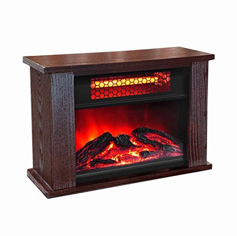 LifeSmart LifePro 750W Infrared Mini Fireplace Heater by LIFE PRO
