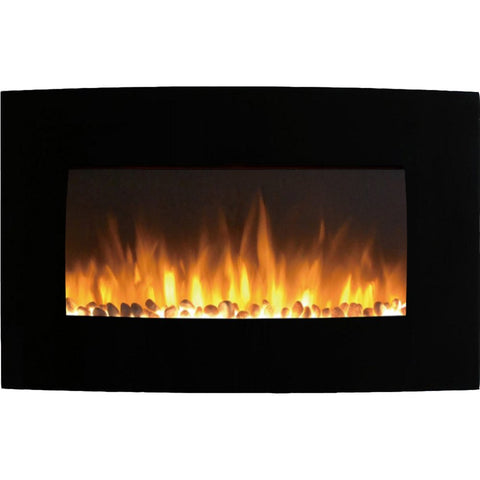 "Regal Flame Broadway 35"" Pebble Ventless Heater Electric Wall Mounted Fireplace"