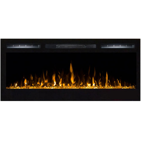 "Regal Flame Lexington 35"" Crystal Built in Wall Ventless Heater Recessed Wall Mounted Electric Fireplace"
