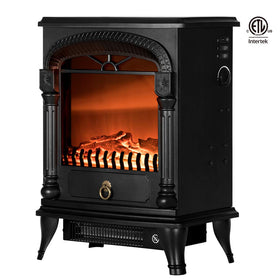 VIVOHOME 110V 20 Inch Portable Electric Fireplace Stove Heater with Flame Effect