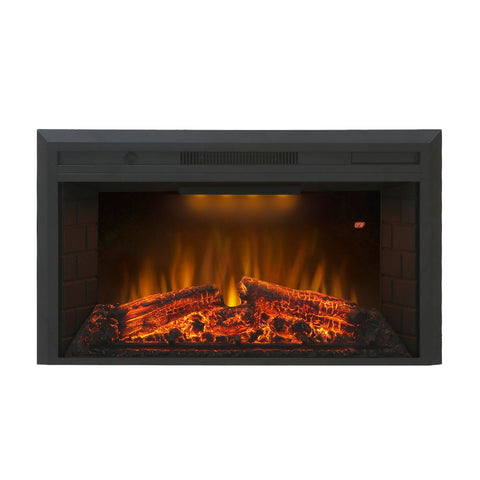 "Valuxhome Houselux 36"" 750W/1500W Embedded Fireplace Electric Insert Heater"