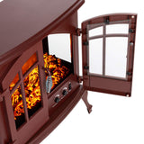 e-Flame USA Jasper Electric Fireplace Stove 23-inches Rustic Red