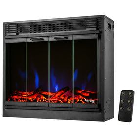 e-Flame USA Montreal LED Electric Fireplace Stove Insert with Remote Control 26-inch