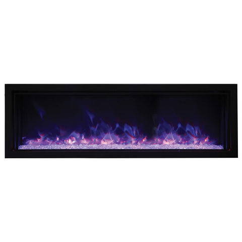 Amantii BI-50-XTRASLIM Panorama Indoor/Outdoor Extra Slim Built In Electric Fireplace, 50-Inch