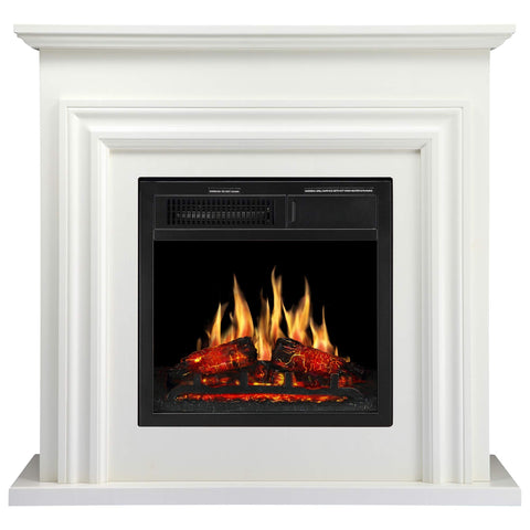 JAMFLY Wood Electric Fireplace Mantel Package Freestanding Heater