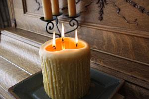 Beeswax Candles Heritage Drip 3 Wick Pillar