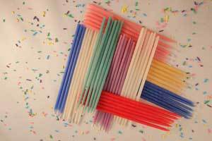 Beeswax Birthday Candles With Distinction