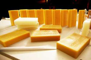 New Look for our 1 Pound Beeswax Blocks