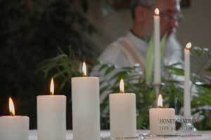 Beeswax Candles at Your Wedding