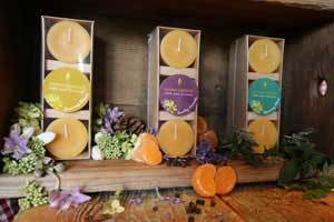 Beeswax Candles Scented with Pure Essential Oils
