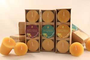 Beeswax Votives Scented With Essential Oils in 3 Packs