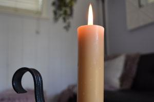 Beeswax Column Candles