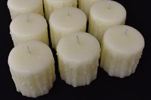 Honey Candles® Beeswax Pearl Heritage Drip Pillar Candles